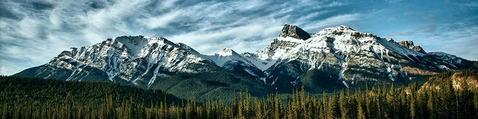 Canadian mountains.