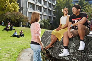 New Zealand students on campus.