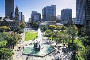Victoria Square, Adelaide.
