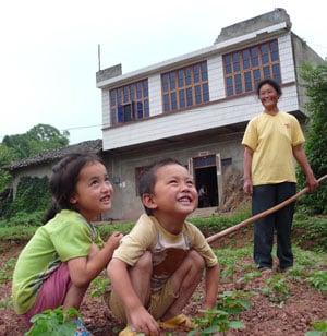 Rural family.
