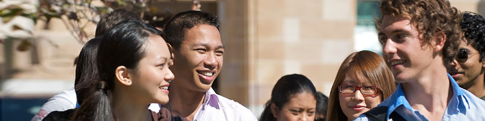 International and Australian students in Australia.