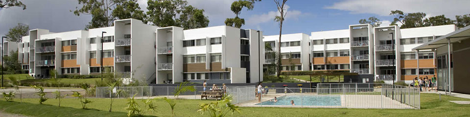 Residential campus accommodation at an Australian university.