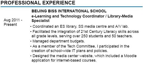 Experience Section Examples  Examples Of Experience For Resume