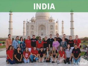 Indian student visitors.